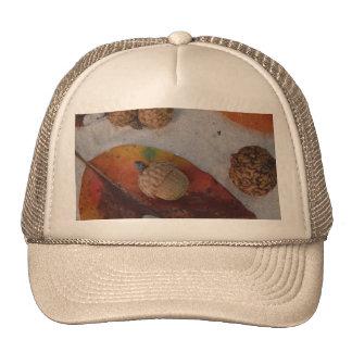Orange fall leaves and acorns trucker hats