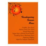 Orange Fall Sunset (Veg) Thanksgiving Dinner Menu Custom Invitation