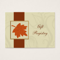 orange fall wedding Gift registry  Cards