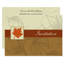 orange fall wedding Invitation cards