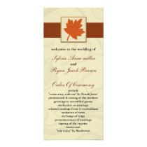 orange fall Wedding program