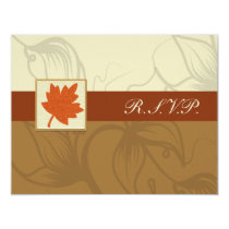 orange fall wedding rsvp cards