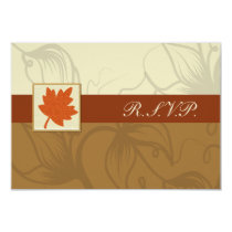 orange fall wedding rsvp standard 3.5 x 5 card