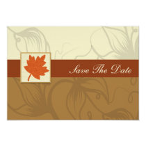 orange fall wedding save the date announcement