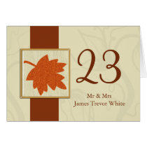 orange fall wedding table seating card