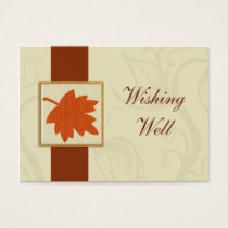 orange fall wedding wishing well cards