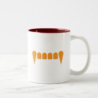 Orange Fangs Two-Tone Mug