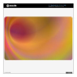 Orange fantasy sky skins for the MacBook air