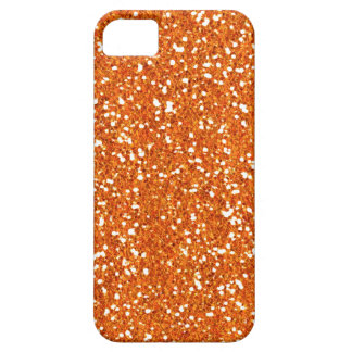 Orange Faux Glitter Case-Mate iPhone 5 Case