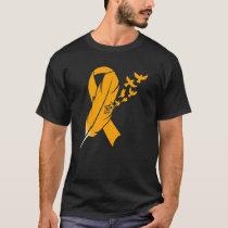 Orange Feather Ribbon - Leukemia Awareness T-Shirt