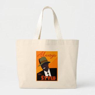 "Orange ""FEDORA"" Tote Bag"