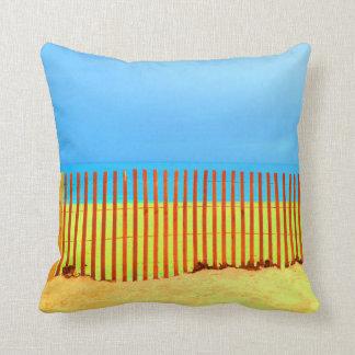 orange fence yellow beach blue sky florida pillows