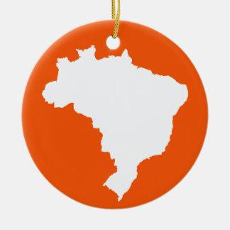 Orange Festive Brazil at Emporio Moffa Ceramic Ornament