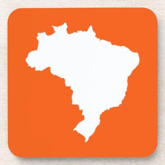 Orange Festive Brazil at Emporio Moffa Drink Coaster