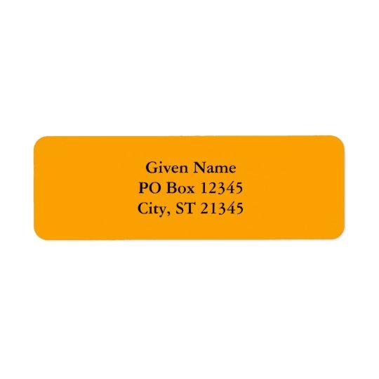Orange FFA500 Label