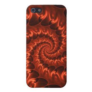 Orange Fiery Spiral Cover For iPhone SE/5/5s