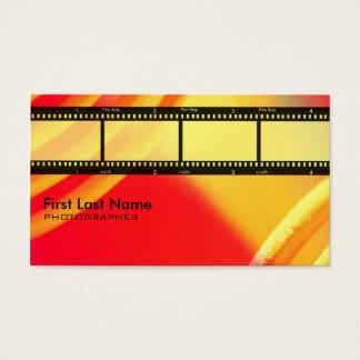 Orange film strip theme photography custom cards
