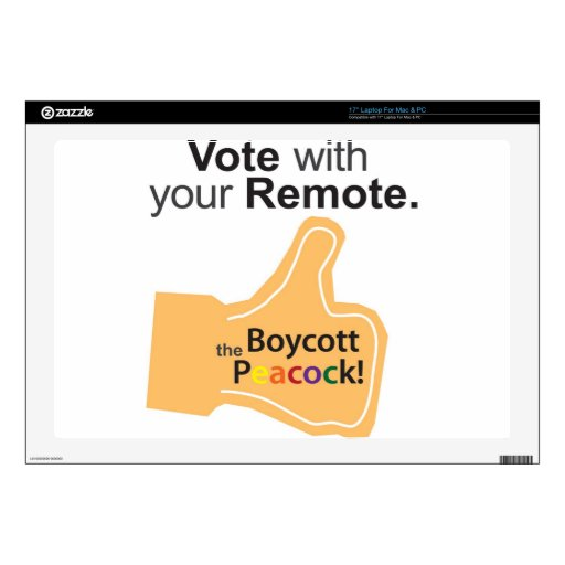 Orange Finger Vote with Your Remote! Laptop Decal