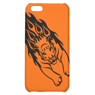 ORANGE FIRE FAST TIGER SPORTS TEAM GANGS LOGO COVER FOR iPhone 5C
