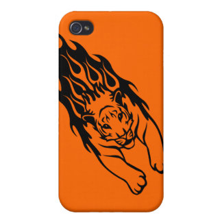 ORANGE FIRE FAST TIGER SPORTS TEAM GANGS LOGO iPhone 4/4S COVERS