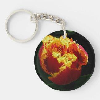 Orange Fire Keychain