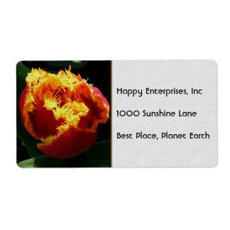 Orange Fire Shipping Label