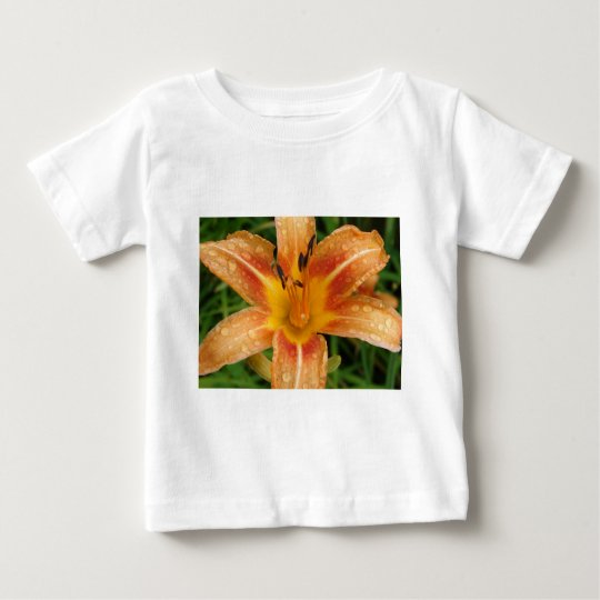 Orange Fire Lily Baby T-Shirt
