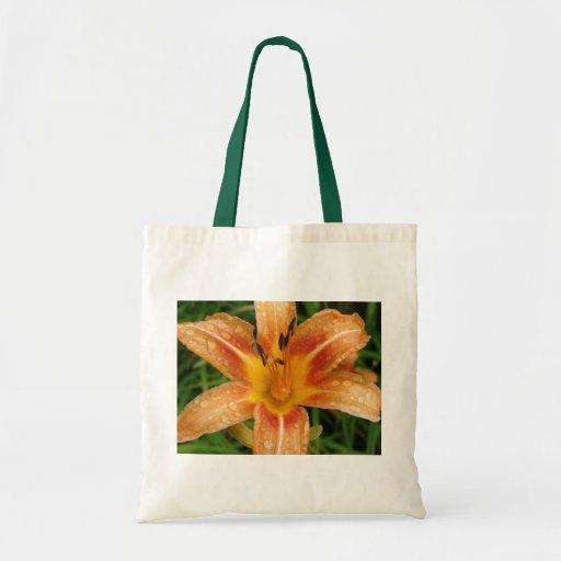 Orange Fire Lily Budget Tote Bag