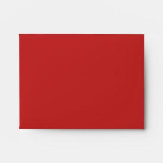 Orange fire paisley monogram envelopes