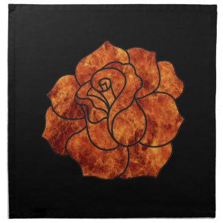 Orange Fire Rose Napkins