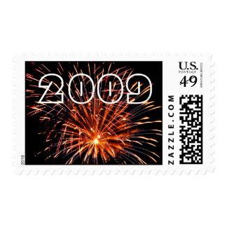 Orange Fireworks, 2009 Stamp