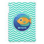 Orange Fish; Aqua Green Chevron iPad Mini Cases