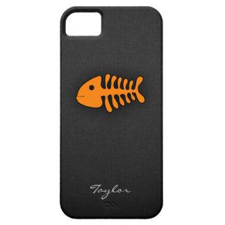 Orange Fish Bones iPhone SE/5/5s Case