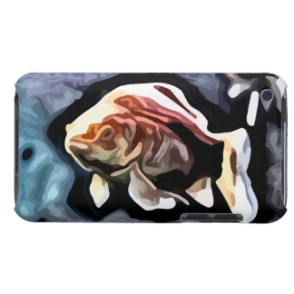 orange fish deep swimming painting Case-Mate iPod touch case