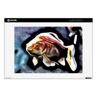 orange fish deep swimming painting decal for laptop