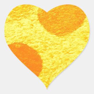 orange fish heart sticker