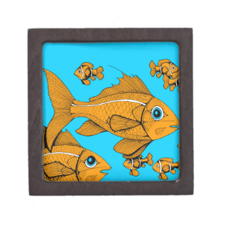 Orange Fish Jewelry Box