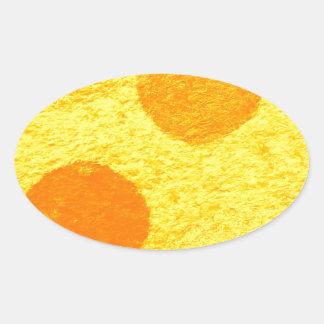 orange fish oval sticker