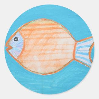 Orange Fish Stickers