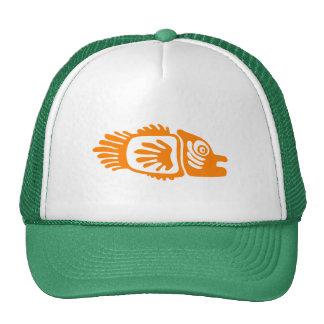 orange fish,tribal,drawing,vector,art,fun,style,tr trucker hat