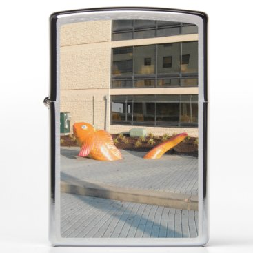 Beach Themed Orange Fish Zippo Lighter