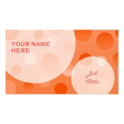 Orange Fizz business card template bubbles