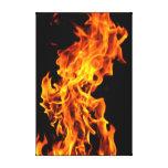 Orange flame canvas print