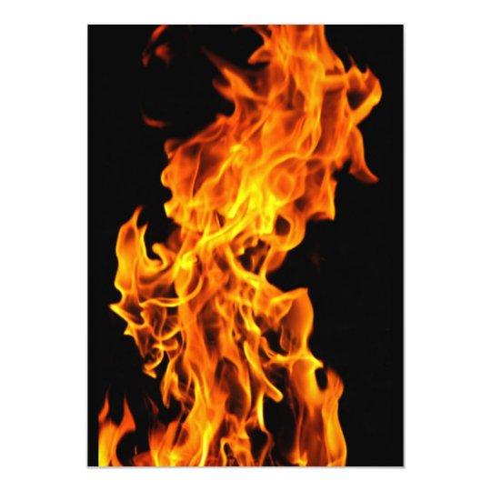 Orange flame card