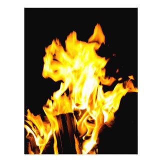 Orange flame flyer