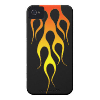 Orange Flame iPhone 4 Case-Mate Case