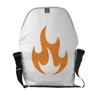 Orange Flame Courier Bags