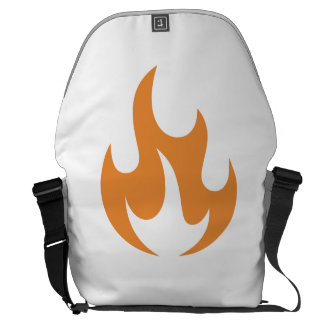 Orange Flame Messenger Bags