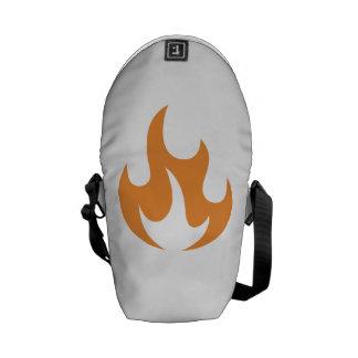 Orange Flame Courier Bag