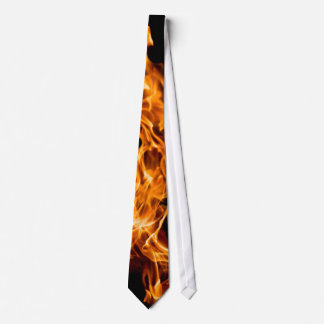 Orange flame tie
